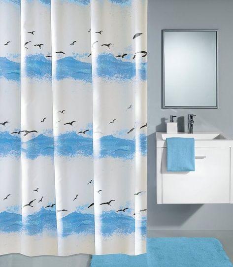 Kleine Wolke Duschvorhang Seaside 120 Cm Breite Moderne