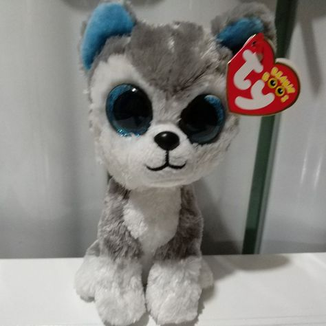 9e0b2c13f95395 SLUSH HUSKY DOG TY BEANIE BOOS 1PC 15CM 6inch Big Eyes Plush Toys Stuffed  Animals