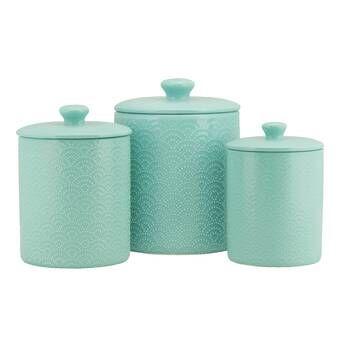 3 Piece Kitchen Canister Set Ceramic Canister Set Kitchen