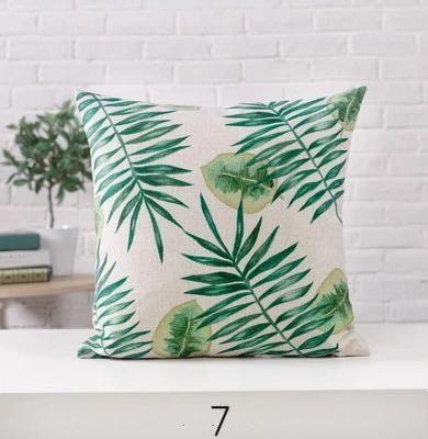 Tropical Linen Pillow Cover Green Outdoor coussins CASE Plante Maison Décoration