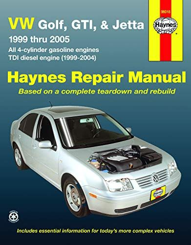 Vw Golf Gti Jetta 99 Thru 05 Automotive Repair Ma Https Smile Amazon Com Dp 156392708x Ref Cm Sw R Pi Dp Repair Manuals Volkswagen Jetta Vw Jetta