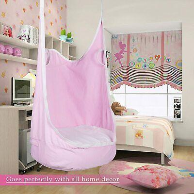 Kids Pod Swing Seat Children Hanging Hammock Chair Indoor In 2020 Indoor Hammock Chair Hanging Chair Indoor Swinging Chair
