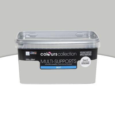 Peinture Multi Supports Gris Cendre Mat 2 5l En 2020 Castorama Decoration Peinture Interieur Maison Et Peinture