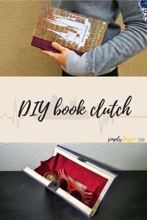 Book clutch harry potter crafts diy diy harry potter and book purse solutioingenieria Choice Image