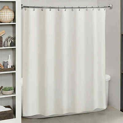 Titan Essence Heavyweight Fabric Shower Curtain Liner In White 70