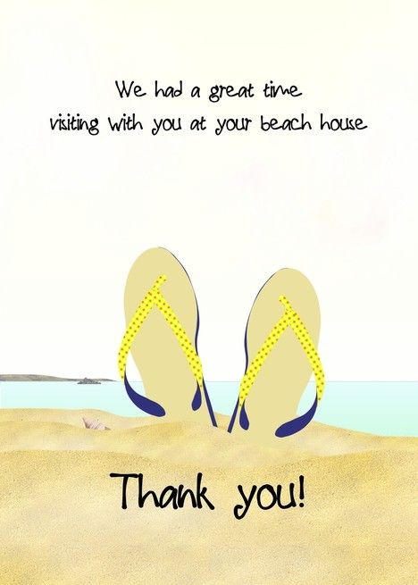 Thank You For Great Time At Beach House Flip Flops In The Sand Card Ad Ad Beach House Great Time Business Template Greeting Card Artist Cards