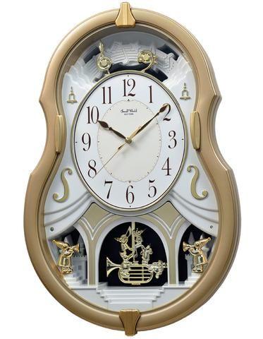 Rhythm Melody Dream Musical Motion Wall Clock Swarovski Crystals 3 Princeton Watches Rhythm Clocks Clock Wall Clock