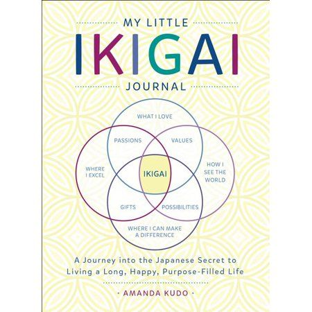 My Little Ikigai Journal A Journey Into The Japanese Secret To Living A Long Happy Purpose Filled Life Walmart Com Life Purpose Journal Life