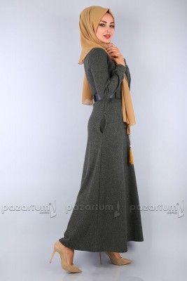 Pazarium Com Tr Adli Kullanicinin Tesettur Elbise Modelleri Panosundaki Pin Elbise Modelleri Elbise Moda Stilleri