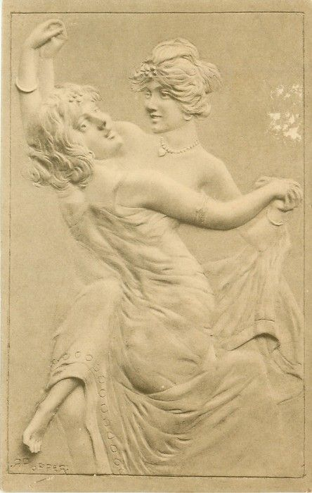 two young women dance together