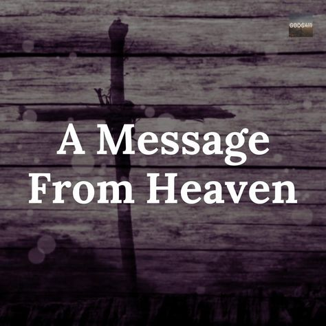 Message From Heaven For You