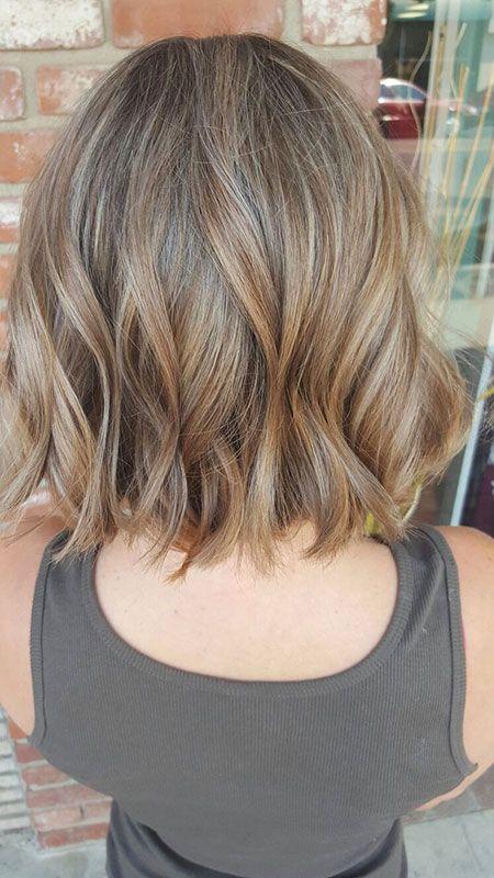 25 Textured Bob Hairstyles Ombre Hair Blonde Balyage Short Hair