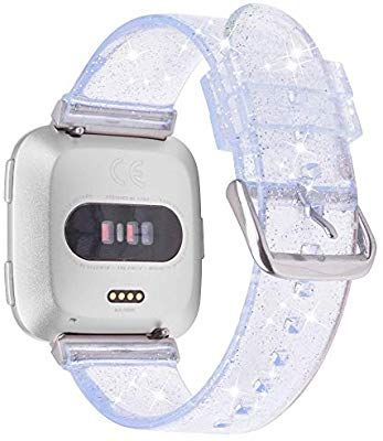V-MORO Silicone Straps Compatible with Fitbit Versa Bands//Versa 2 Wristbands Fashion Bracelet Replacement Accessory for Fitbit Versa//Versa 2//Special Edition//Lite Edition Smartwatch