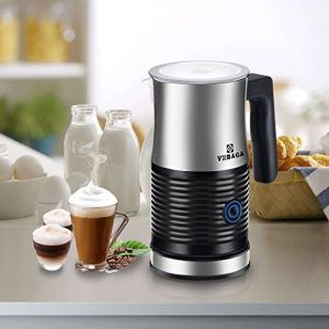 Electric Milk Steamer With Hot Or Cold Milk Foam Functionality