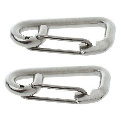 2 Pack Stainless Steel Snap Hook Quick Link Carabiner Climbing Hardware 10cm Ebay In 2020 Carabiner Stainless Stainless Steel
