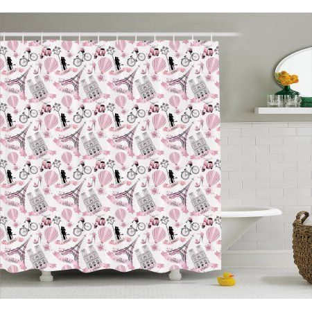 Eiffel Shower Curtain Love In The City Paris French Bridal