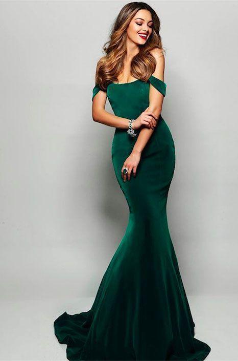 1e738fac95213 Dark Green Velvet Mermaid Prom Dresses 2019 Off The Shoulder Sexy ...