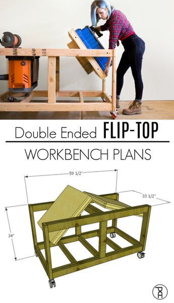 Double Ended Flip Top Workbench Plans Video Tutorial Tavoli Da Lavoro Banco Da Lavoro Strumenti Per La Lavorazione Del Legno