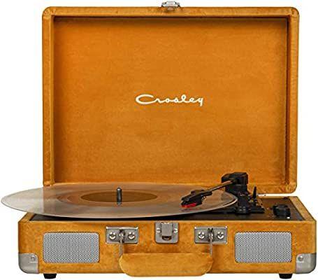 Amazon Com Crosley Cruiser Deluxe Vintage 3 Speed Bluetooth Suitcase Turntable Turquoise Industrial Scientific In 2020 Vinyl Records Crosley Cruiser Vinyl