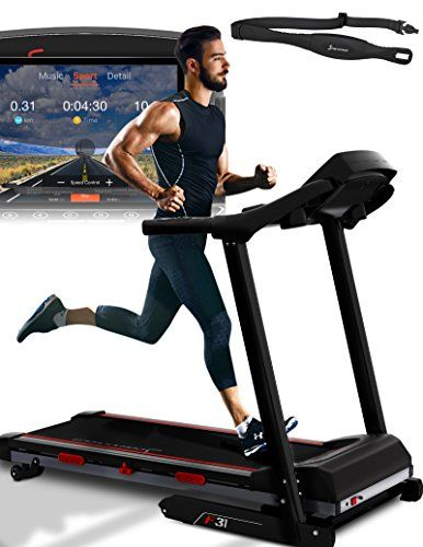 Sportstech F31 Professional Treadmill With Smartphone App Control Mp3 Aux Bluetooth 4ps 16km H With Innovative Self Lubrication Function Foldable And Space Saving Storage App Control Space Saving Storage Treadmill