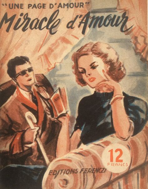 Vintage French 1950s Romance Novel Magazine By Thepapermuseum
