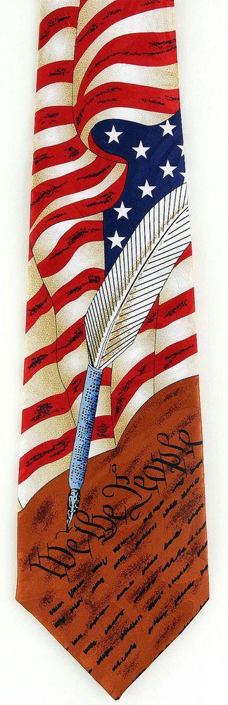 1776 Men/'s Necktie Declaration Independance American History Black Neck Tie