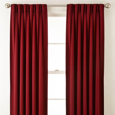 Liz Claiborne Kathryn Room Darkening Pinch Pleat Back Tab Curtain