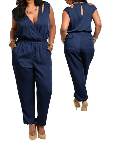 Clothing, Shoes & Accessories Helpful Colbolt Blue Playsuit Size Xl 18-20 Women's Clothing