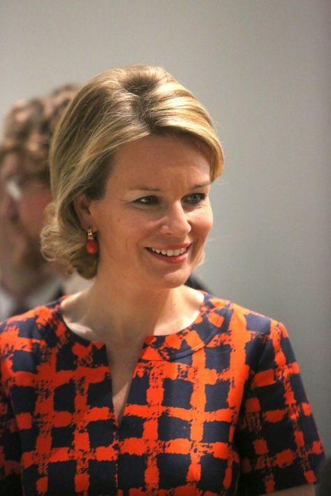 """Queen Mathilde  visited  the exhibition """"the Europe of Rubens"""" at the Louvre-Lens Museum  in Lens, France"""