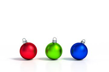 Metallic Rgb Color Red Green And Blue Of Christmas Ball Ornaments Put On White Background 3d Rendering 3d In 2020 Simple Logo Design Christmas Balls Ball Ornaments
