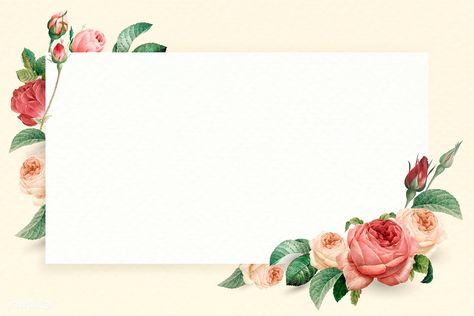 Floral rectangle white frame vector | premium image by rawpixel.com / nunny