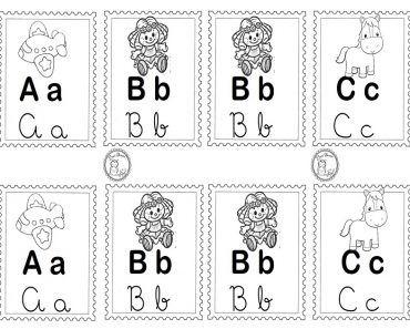 Alfabeto Ilustrado Com 4 Tipos De Letras Letra Cursiva E Bastao