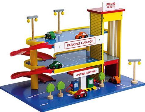 Pas Garage Enfant Station Bois Legler 1510 Jouet D'essence En Cher wk08POnX