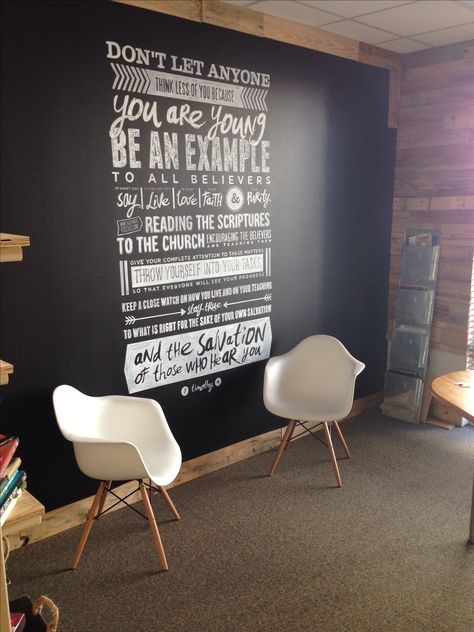 Customstudents.com Office scripture wall