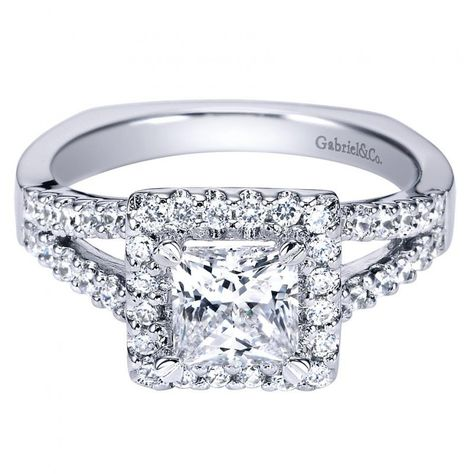 Princess Cut White Gold Wedding Rings