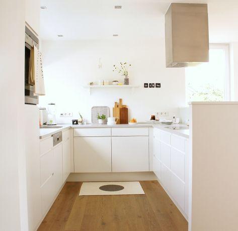 Edle weiße Küche mit Altholz Wohnung Ramosch Pinterest weiße - küche lackieren vorher nachher