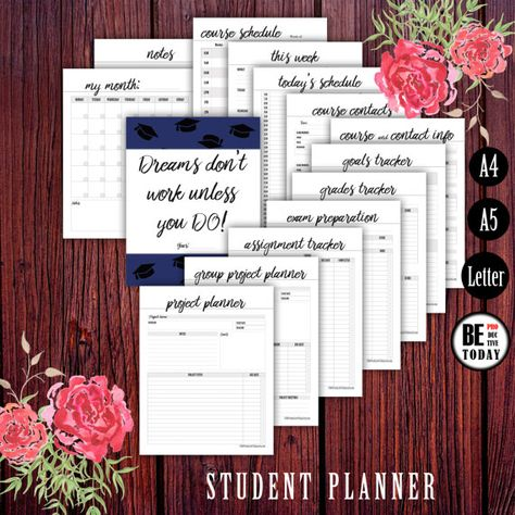 list of pinterest school organization college student planners track