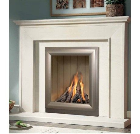 Aurora Limestone Fireplace Package Complete With Verine Meridian