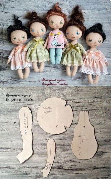bambole in pezza | Bambole di stoffa, Bambole e Tutorial bambola