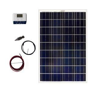 Grape Solar 100 Watt Off Grid Solar Panel Kit Gs 100 Kit The Home Depot Solar Panel Kits Solar Panels Solar Heating
