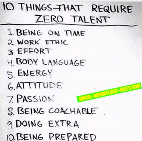 10 Things That Require Zero Talent Motivation Leadership