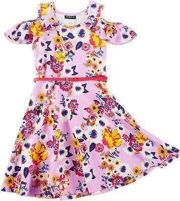 RMLA Girls Cold Shoulder Floral Maxi Dress