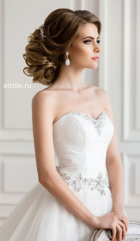 Pin By Paigegavin On Wedding In 2020 Strapless Dress Hairstyles Bride Hairstyles Best Wedding Hairstyles