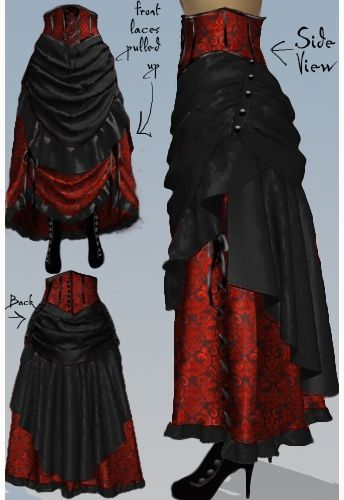 Victorian Steampunk Bustle Skirt by Amber Middaugh