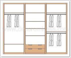 Resultado de imagen para diseño de closet medidas estandar