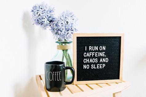 Mom Life and coffee go hand in hand Letter Board Coffee