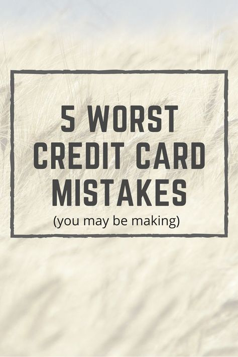 The Top 5 Worst Credit Card Advice People Dish Out