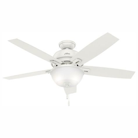 Hunter Donegan 52 In Led Indoor Onyx Bengal Ceiling Fan With 3 Light Bundled With Handheld Remote Control Ceiling Fan White Ceiling Fan Decorative Ceiling Fans