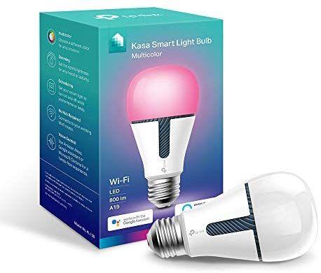 Amazon Com Tp Link Kasa Smart Wifi Light Bulb Multicolor Smart Led Light Bulbs Works With Alexa Google Kl13 Smart Light Bulbs Light Bulb Smart Lighting