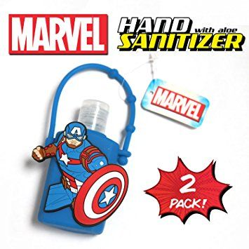 Official Marvel Hand Sanitizer With Aloe 2 Blue Captain
